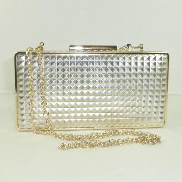 Sondra Roberts Handbags - Sondra Roberts Metallic Gold Clutch Bag